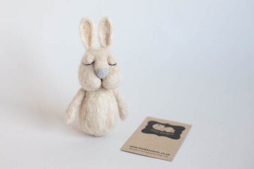 Hand felted Bunny