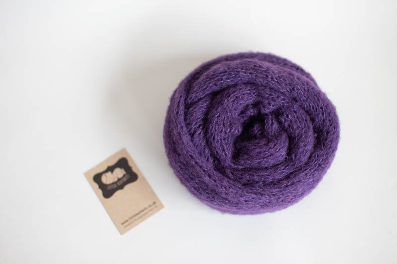 Purple Knit Wrap