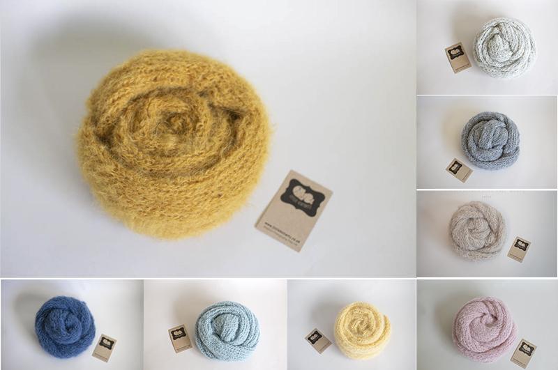 Newborn Knitted wrap