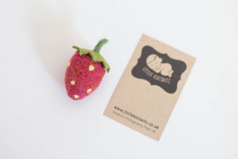Felted Strawberry