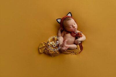 Newborn Fox Bonnet