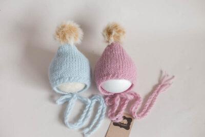 Newborn twin Bonnets