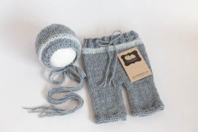 Newborn Shorts & Bonnet